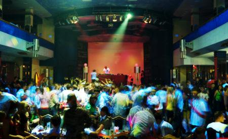 Dancing in night club. Element of design.